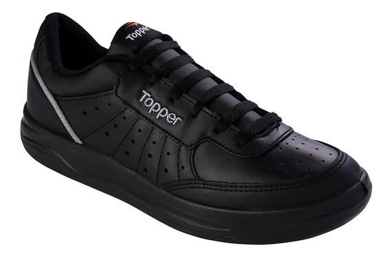 Nueva Zapatillas Topper X Forcer Negro O Blanco Cuero Unisex