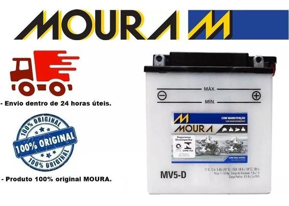 Bateria Moura Mv5-d 12-v Crypton Xtz 125 Traxx Star 50cc