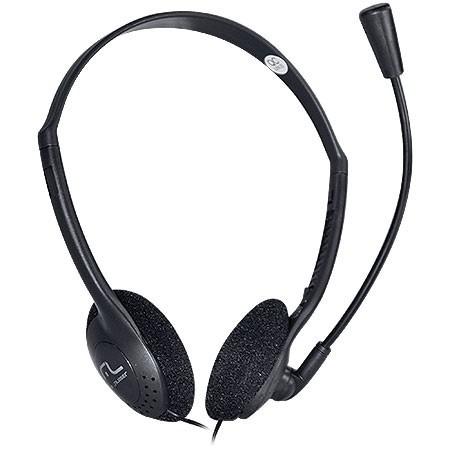 Fone De Ouvido Com Microfone Headeset Ph002 Preto - Multilas