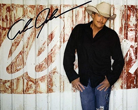 Alan Jackson Autografiado Firmado 8x10 Foto Aftal Uacc Rd Co