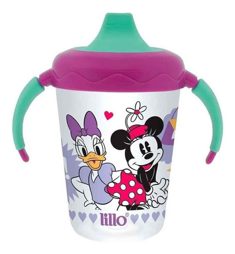 Copo De Treinamento Antivazamento Disney Lilás 207ml Lillo