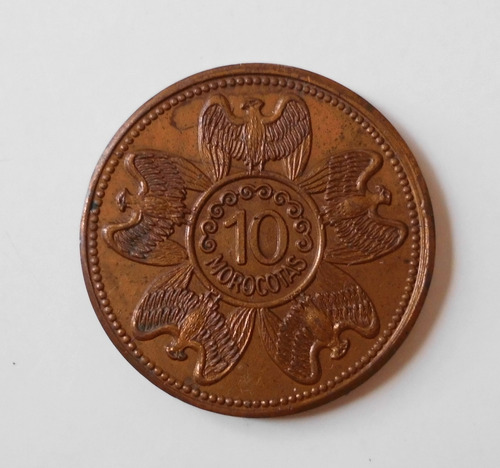 Moneda Antigua De 10 Morocotas De Los Aleros