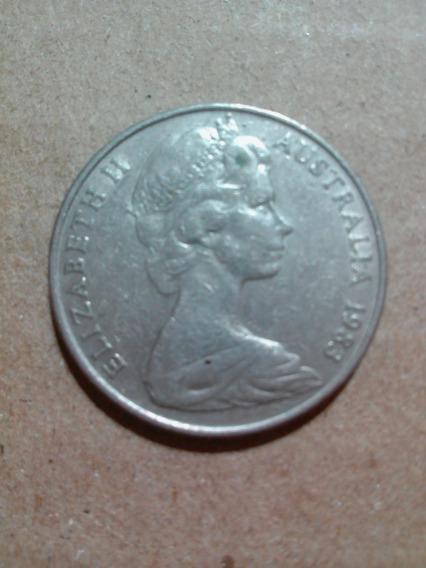 Moneda Australia Año 1983 10 Cents Ave Lira