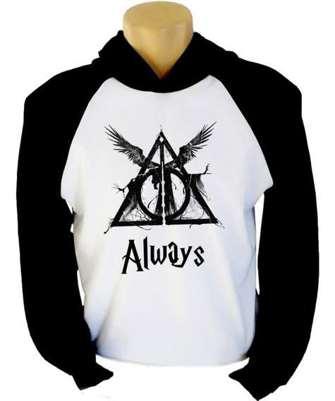 Blusa Moletom Harry Potter Reliquias Da Morte Always Promo!