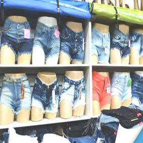 Kit 30 Bermuda Short Jeans Feminino Cintura Alta Revenda