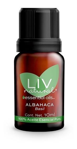 Aceite Esencial De Albahaca Puro Liv Natural®