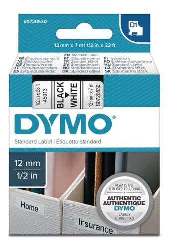 45013 | Dymo Labelmanager | Cinta Plástica | Negro/blanco