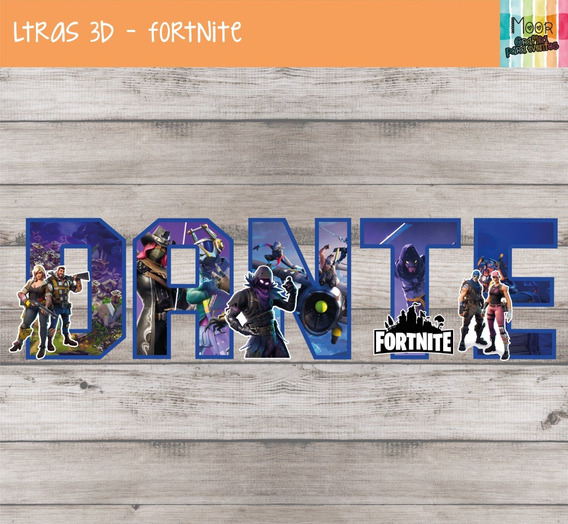 Letras 3d Fortnite Candy Bar Decoracion Cumpleaños X 3