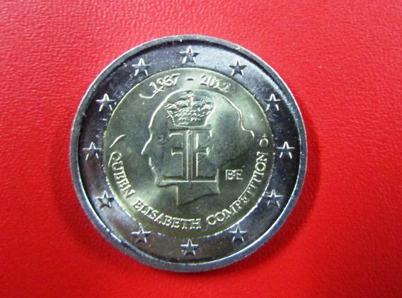 Bélgica Moneda 2 Euros 2012 Reina Isabel Bimetalica