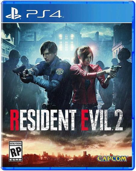 Resident Evil 2 Ps4 Mídia Física Lacrado Português + Brinde