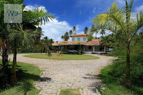 Casa Com 8 Dormitórios À Venda, 40.000 M² Por R$ 10.000.00 - Porto De Pedras - Porto De Pedras/alagoas - Ca0008