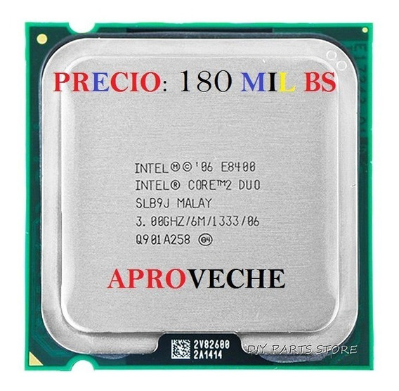 Procesador Intel Core 2 Duo E8400