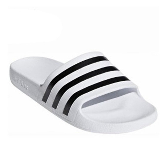 Chinelas adidas Adilette Aqua Blanca/negra - Corner Deportes