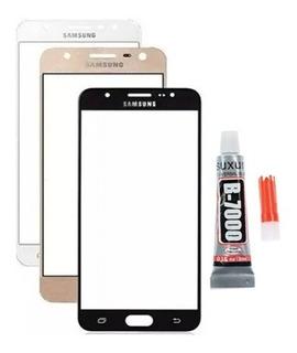 Tela Vidro Galaxy J7 Prime G610 G610m Furo Flash + B7000