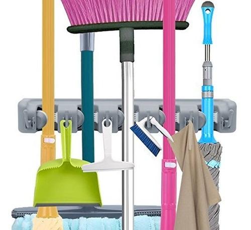 Mop Broom Holder Herramientas De Jardin Organizador Comercia