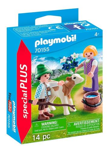 Playmobil Special Plus 70155 Niños Con Ternero Orig Intek