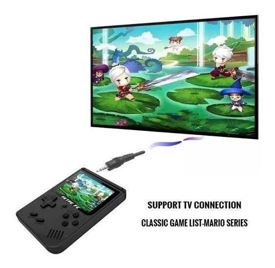 Mini Game 400 Jogos Retro Azul Sup Branco Cabo Tv E Carga