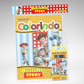 40 Kit Colorir Toy Story 2 Revista Giz Lembrança