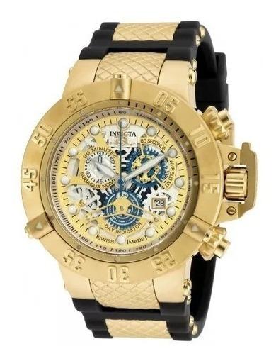 Relógio Xct8902 Invicta 18528 Subaqua Swiss Banhado Ouro 18k