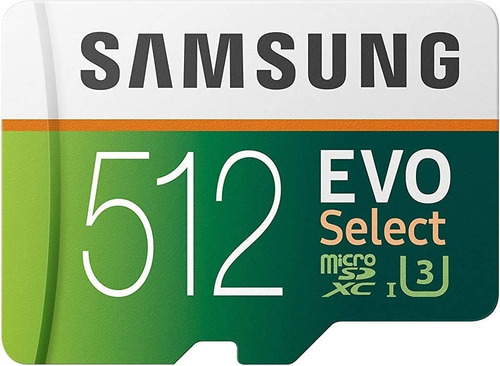 Microsd Samsung Evo Select 512gb / Clase 10 / Alta Velocidad