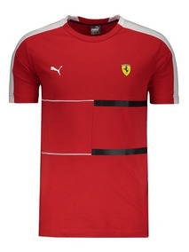 Camiseta Puma Ferrari Motorsport Sf T7 Tee Vermelha