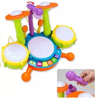 Bateria Bebé Instrumentos Musicales Niños Infantil Educativo