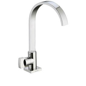 Torneira Banheiro Bica Alta Basic Cromado Esteves 1198c33est