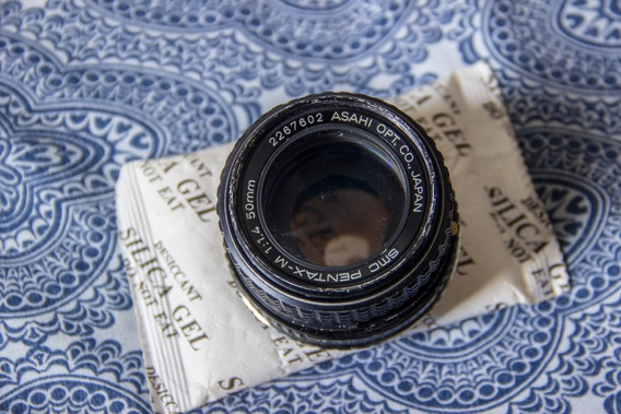 Lente 50mm Pentax Smc 1.4 Manual C/ Adaptador Para Canon