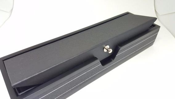 Caixa Estojo Presente Luxo Pulseira Colar Cordão Jóia Preta