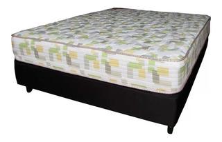 Somier Y Colchon 2 Plazas 140x190x55 Pillow