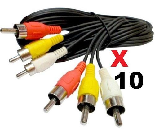 Imagen 1 de 1 de Cable Rca A Rca 1.8 Mts