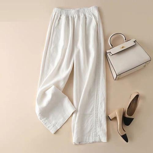 Mujer Pantalones Harem Cintura Alta Suelta Formal Elegante O Mercado Libre