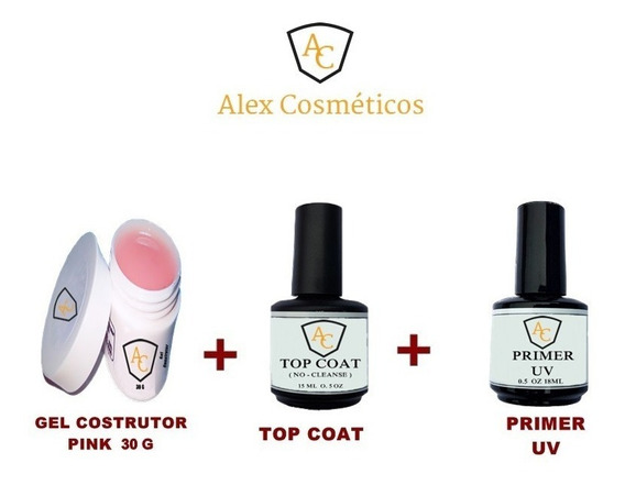 Primer Anti Fungos Uv + Gel Uv 30g Alex + Selante Top Coat
