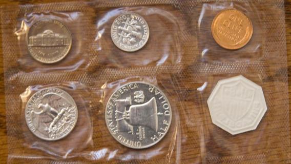 1958 Moneda Plata Proof Americano Eeuu Acabado Espejo