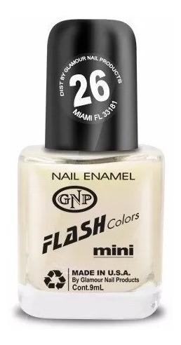 Imagen 1 de 4 de Esmalte Flash Colors De Gnp 9ml Nro.26 Lactea Con Nacar!