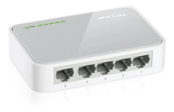 Switch 5 Puertos Tp-link 10/100 Mbps 5 Bocas Redes C/ Fuente