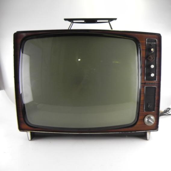 Tv Antiga Philips Stabilimatic Decoração Vintage C/ Alça - C/ Defeito