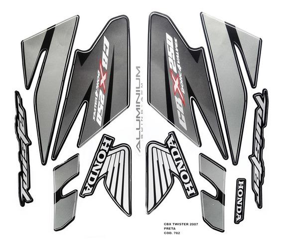 Faixas / Kit Adesivos Cbx250 Twister 2007 Preta