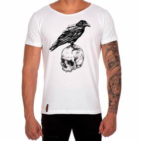 c3d9c2a0b8 Camisa Camiseta Caveira Corvo Skull Basica Personalizada