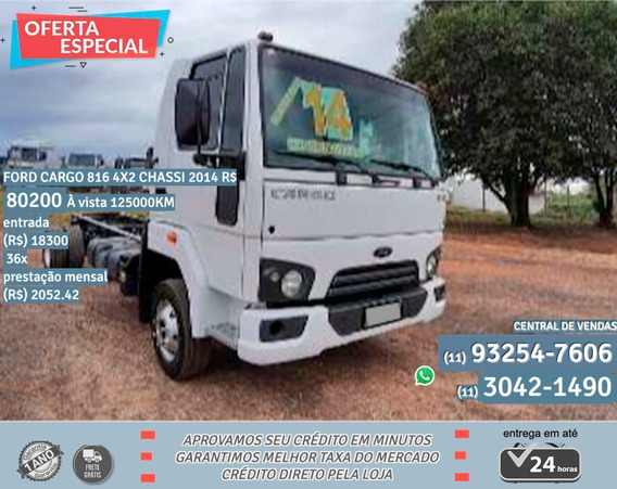Ford Cargo 816 2014 Branco
