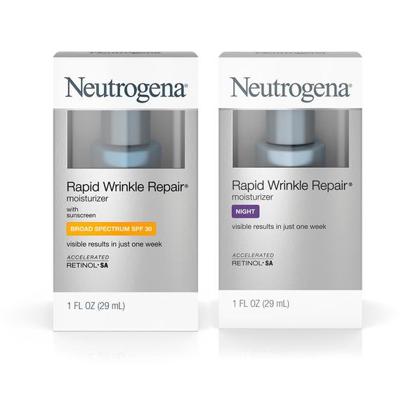 Crema Antiedad Día + Crema Noche Neutrogena Rapid Wrinkle