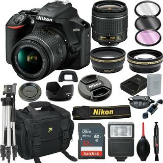 Cámara Réflex Digital Nikon D3500 Negra + Lente Vr De 18-55