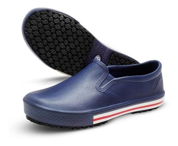 Sapato Calçado Soft Works Profissional Bb80 Azul