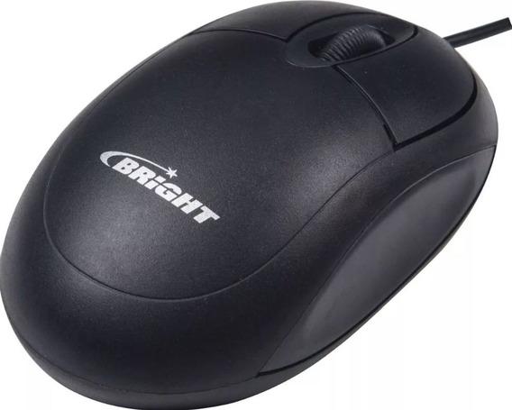 Mouse Standard Preto Usb 800 Dpi Bright - Original Novo