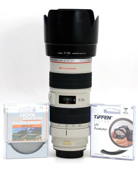 Objetiva Canon 70-200mm 2.8 Is Usm Estabilizador Nota 10 !!