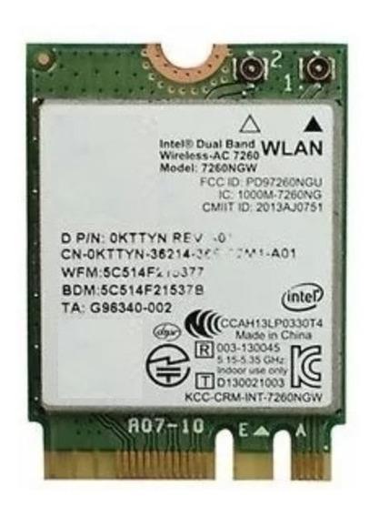 Placa Intel Wireless-ac 7260 802.11 Ac/a/b/g/n, Bluetooth V4