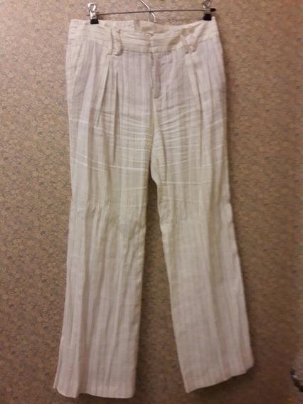 Pantalon De Lino Zara Espana Talle 36 Mercado Libre