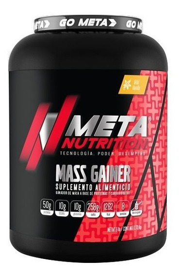 Proteina Meta Nutrition Ganador Mass Gainer 6 Lb / 2.72 Kg