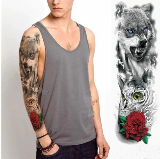 Tatuagem Temporaria Masculina Lobo , Tatuagens Temporárias