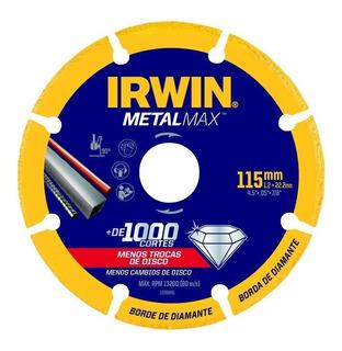 Disco De Corte Irwin Metalmax 115 Mm (4.1/2 ) X 22.23 Mm